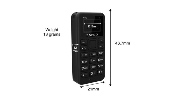 Zanco Tiny T1: Điện thoại nhỏ nhất thế giới, trang bị màn hình OLED, nặng chỉ 13g, giá bán dự kiến 1,2 triệu đồng - Ảnh 3.