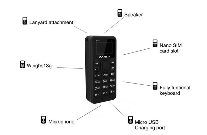 Zanco Tiny T1: Điện thoại nhỏ nhất thế giới, trang bị màn hình OLED, nặng chỉ 13g, giá bán dự kiến 1,2 triệu đồng - Ảnh 4.