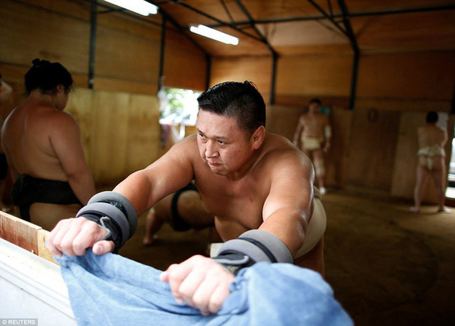 Võ sĩ sumo người Mông Cổ Tomozuna Oyakata.