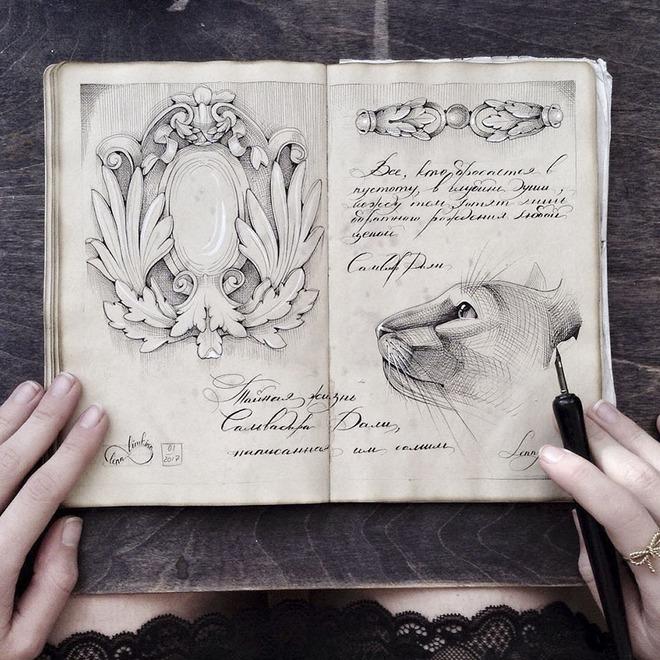 Chủ đề của Elena Limkina thường là thiên nhiên, kiến trúc và những hình khối cổ điển
