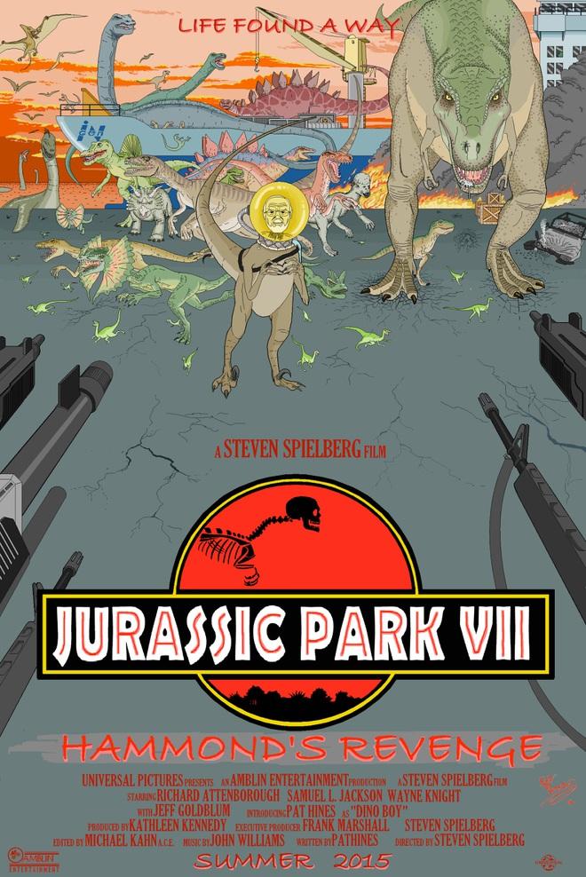 Một Poster của phim công viên kỷ Jura
