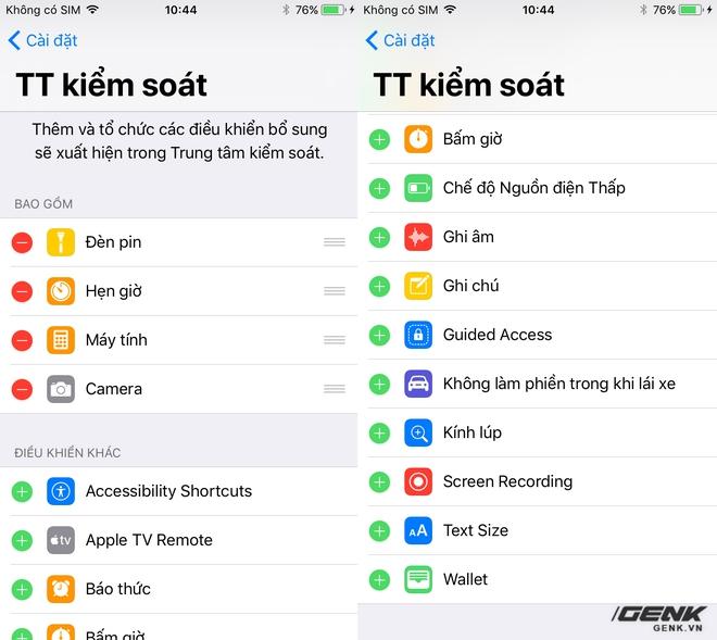 Người dùng đã có thể tùy biến Control Center trên iOS 11