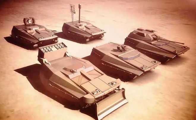 Các loại xe chiến đấu khác nhau được xây dựng trên khung gầm Carmel