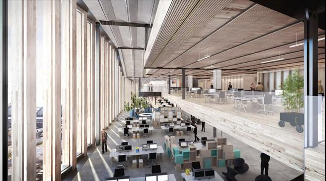 Chiêm ngưỡng văn phòng cao ốc nằm ườn của Google, có cả công viên trên sân thượng - Ảnh 4.