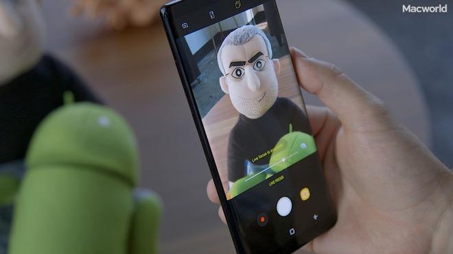 Thanh trượt điều chỉnh khả năng làm mờ trong Live Focus của Galaxy Note 8.
