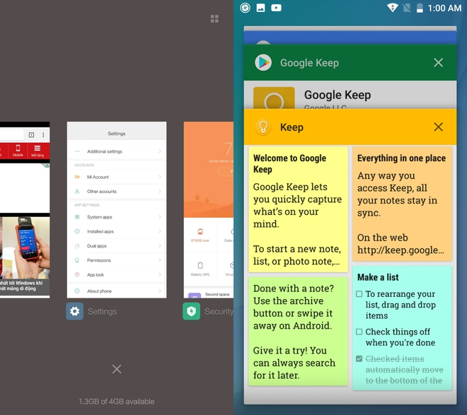 So sánh một vài thành phần giao diện cơ bản giữa MIUI và Android gốc