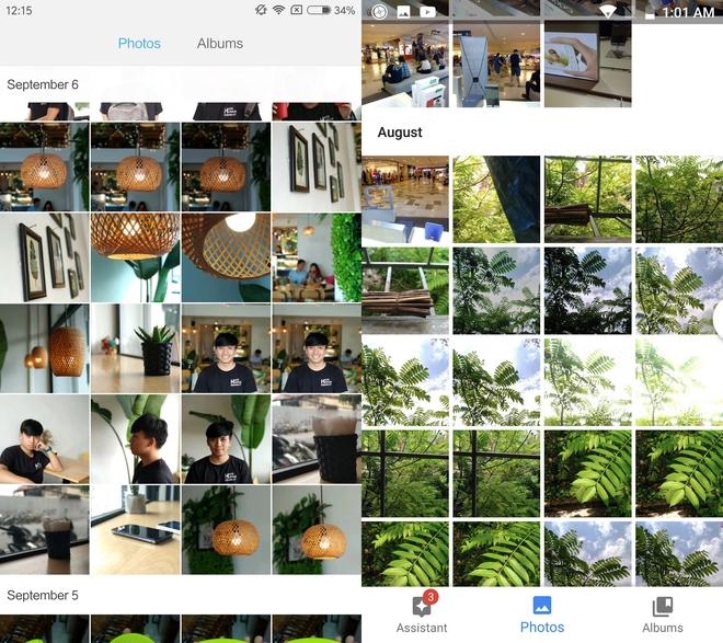 Ứng dụng quản lý ảnh của Xiaomi và Google Photos