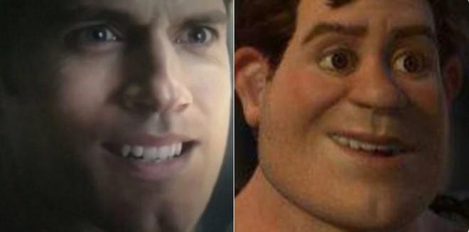 Và thế là người hùng của chúng ta đã bị đem ra so sánh với anh chàng Chằn tinh xanh Shrek