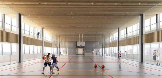 Ngoài ra, nhân viên Google còn có thể tập luyện các môn thể thao trong nhà như bóng rổ và nhiều môn thể thao khác mà vẫn có thể ngắm nhìn thủ đô London.