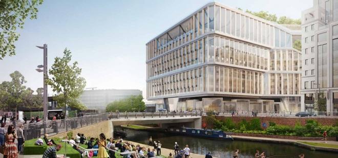 Trong khi đó, phía Nam của tòa nhà sẽ nhìn ra kênh đào Regents và quảng trường Granary Square – nơi có chợ ẩm thực Kerb nổi tiếng thu hút hàng ngàn nhân viên từ các văn phòng xung quanh.