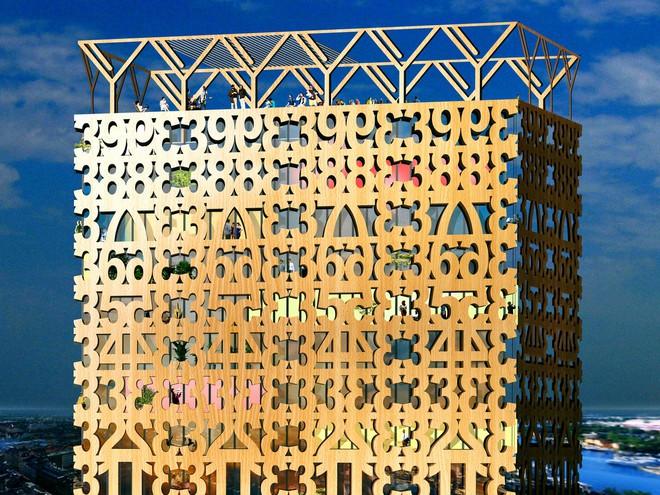 Bản kế hoạch tòa nhà bằng gỗ ở Stockholm
