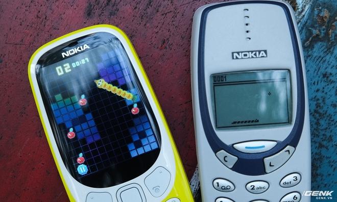 Tình cảm vẫn còn đó, nhưng người dùng có lẽ sẽ khó mà thấy hứng thú với chú rắn vàng ăn cherry mới trên Nokia 3310 (2017).