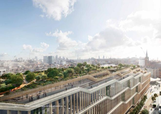 """Được thiết kế để tiết kiệm năng lượng và bền vững, tòa nhà nằm ở phía Bắc của trung tâm London trong một khu vực được xem là """"Knowledge Quarter (Tạm dịch: Quận Trí Thức). Các tổ chức giáo dục như University College London và Wellcome Trust đều có trụ sở đặt tại đây."""