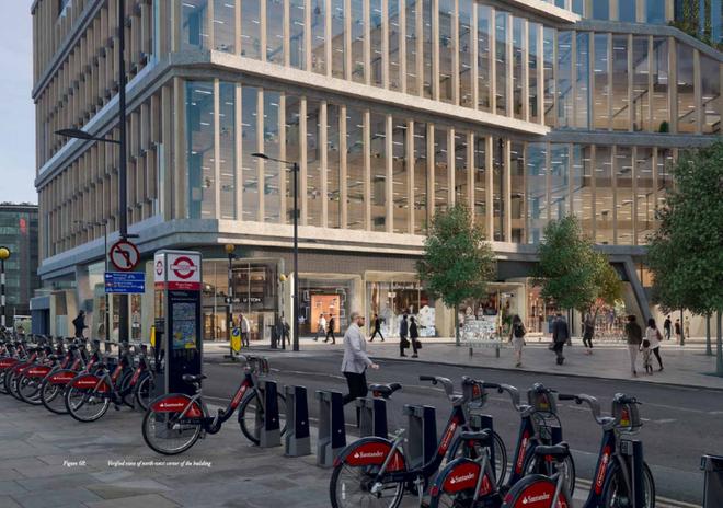 Nhân viên Google sẽ có rất nhiều lựa chọn để đến văn phòng. Nhà ga Kings Cross phục vụ khá tốt bởi London Underground và rất nhiều dịch vụ đường sắt. Trong khi đó, với những nhân viên sống gần văn phòng, họ có thể thuê xe đạp và có sẵn công cụ giữ xe đạp ngay bên ngoài.