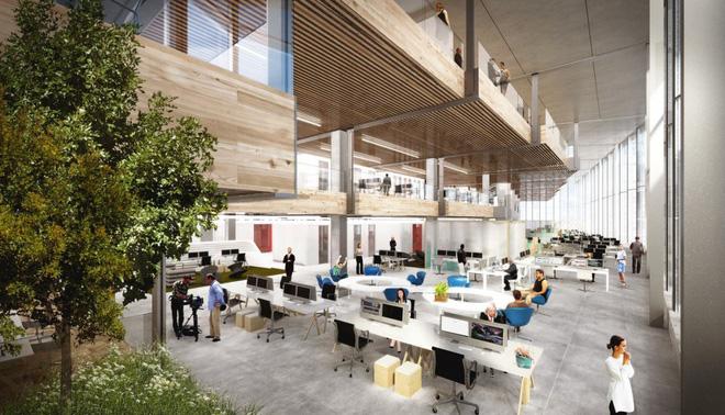 Chiêm ngưỡng văn phòng cao ốc nằm ườn của Google, có cả công viên trên sân thượng - Ảnh 5.