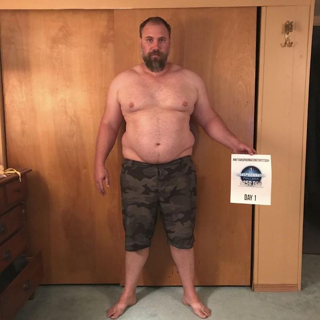 Dẫn con đi chơi nhưng thở không ra hơi, ông bố béo quyết tập gym 6 tháng, nhận được kết quả xứng đáng - Ảnh 1.
