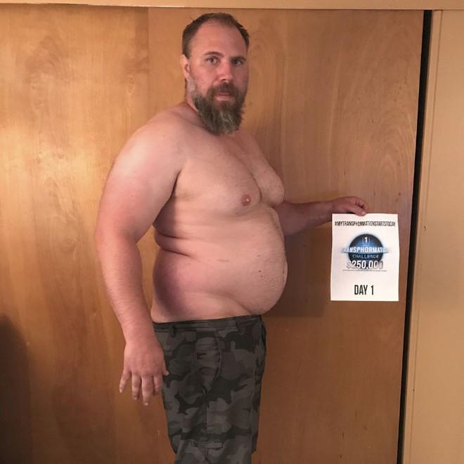 Dẫn con đi chơi nhưng thở không ra hơi, ông bố béo quyết tập gym 6 tháng, nhận được kết quả xứng đáng - Ảnh 3.