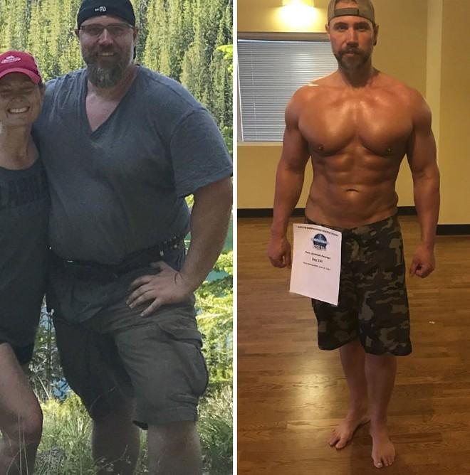 Dẫn con đi chơi nhưng thở không ra hơi, ông bố béo quyết tập gym 6 tháng, nhận được kết quả xứng đáng - Ảnh 7.