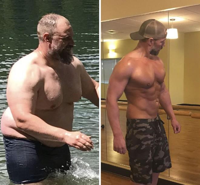 Dẫn con đi chơi nhưng thở không ra hơi, ông bố béo quyết tập gym 6 tháng, nhận được kết quả xứng đáng - Ảnh 9.