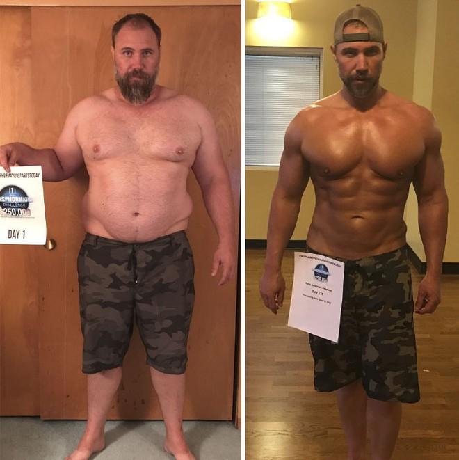 Dẫn con đi chơi nhưng thở không ra hơi, ông bố béo quyết tập gym 6 tháng, nhận được kết quả xứng đáng - Ảnh 11.