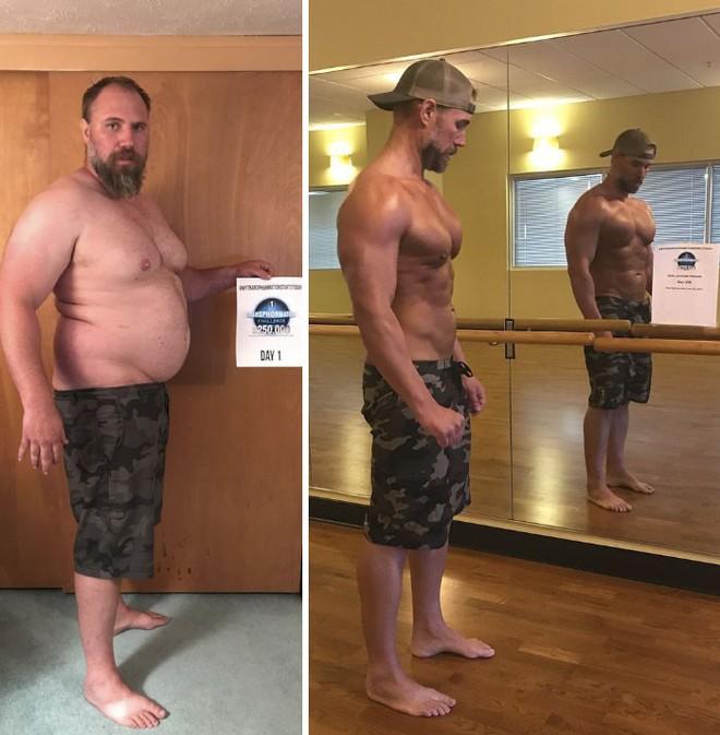 Dẫn con đi chơi nhưng thở không ra hơi, ông bố béo quyết tập gym 6 tháng, nhận được kết quả xứng đáng - Ảnh 12.