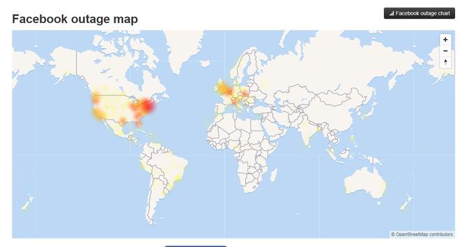 Bản đồ cho thấy vị trí gặp sự cố nhiều nhất nằm ở Mỹ.