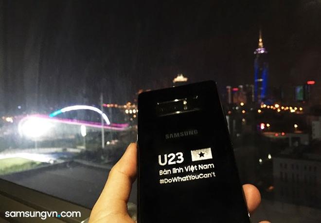 Samsung tặng Galaxy Note8 bản đặc biệt cho đội tuyển U23 Việt Nam - Ảnh 3.