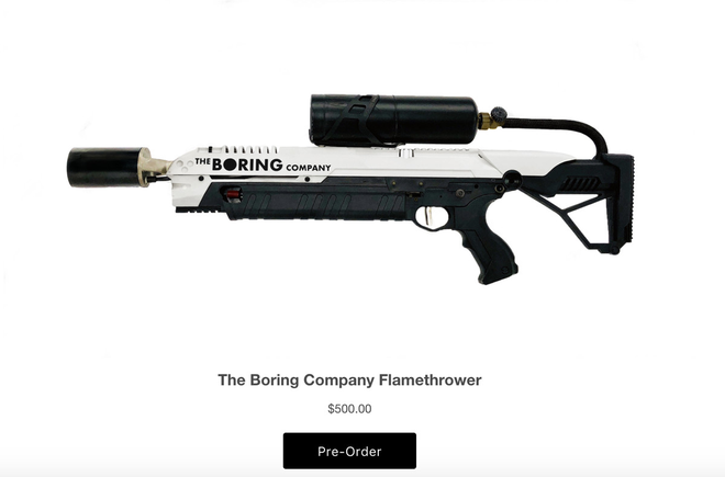 The Boring Company bắt đầu cho đặt trước súng phun lửa, đích thân Elon Musk đóng quảng cáo - Ảnh 1.