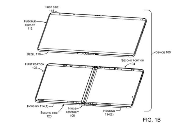 Surface Phone của Microsoft sử dụng 1 màn hình gập được thay vì 2 tấm riêng biệt - Ảnh 1.
