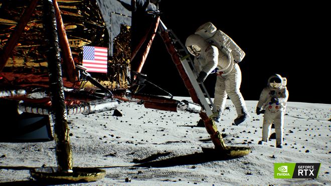 NVIDIA dựng lại toàn bộ cảnh đặt chân lên Mặt Trăng bằng công nghệ mới trên card RTX - Ảnh 2.