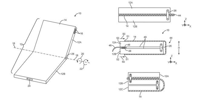 Lộ bằng sáng chế iPhone có màn hình gập của Apple - Ảnh 1.