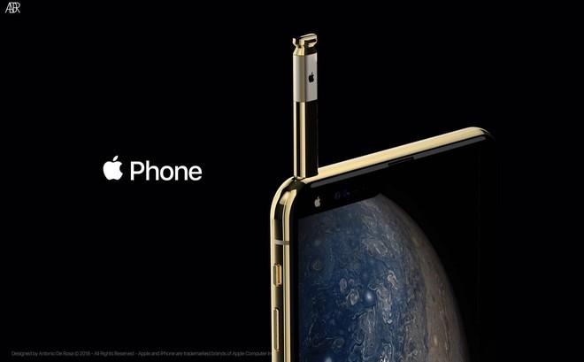 Concept iPhone 2019 với bút cảm ứng, tai thỏ lệch về bên trái và 5 camera - Ảnh 1.