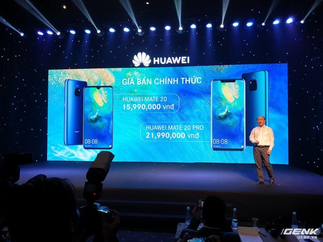 Huawei Mate 20 và Mate 20 Pro chính thức ra mắt tại Việt Nam với mức giá 15,99 và 21,99 triệu đồng - Ảnh 1.