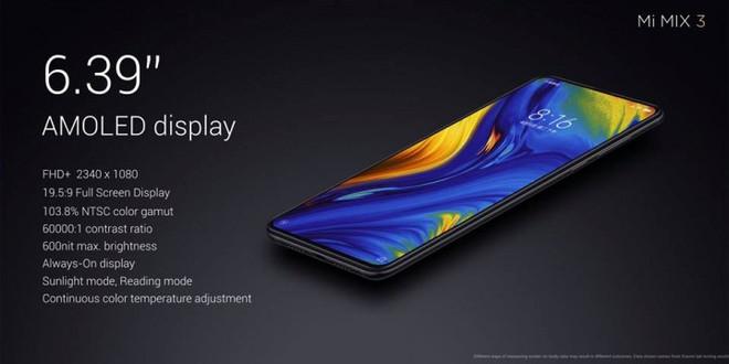 Xiaomi trình làng Mi MIX 3, màn hình chiếm 93,4% mặt trước, thiết kế trượt thủ công bằng nam châm, bản đặc biệt 10 GB RAM giá 16,7 triệu - Ảnh 5.