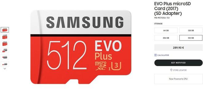 Samsung ra mắt thẻ nhớ microSD 512 GB, giá tương đương một chiếc smartphone tầm trung - Ảnh 1.