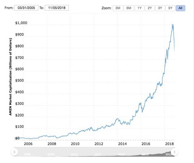 Amazon mất 18 năm để có thể đạt giá trị vốn hóa 250 tỷ USD, nhưng chỉ mất có 8 tuần để đánh mất toàn bộ con số đó - Ảnh 2.