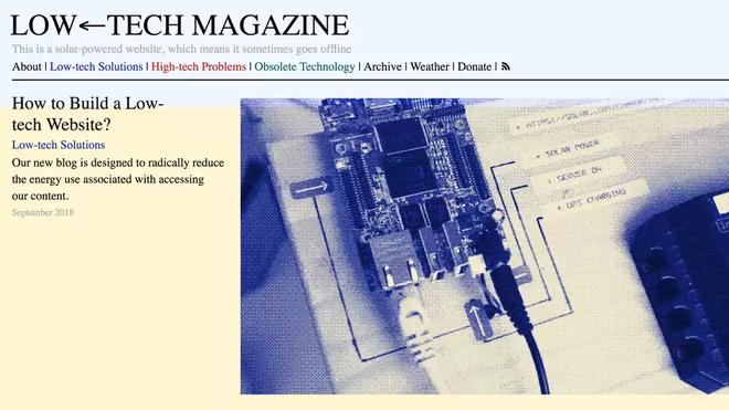 Trang web low tech chạy bằng năng lượng mặt trời, cứ hôm nào trời âm u là không truy cập được - Ảnh 1.