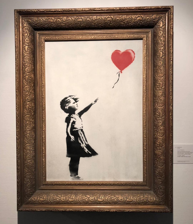 Chuyện lạ: Tác phẩm nghệ thuật trị giá 1,1 triệu USD đã tự hủy ngay sau phiên đấu giá - Ảnh 1.