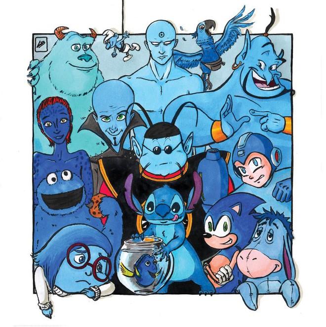 Sẽ ra sao nếu phân loại siêu anh hùng và nhân vật hoạt hình theo màu sắc? - Ảnh 3.