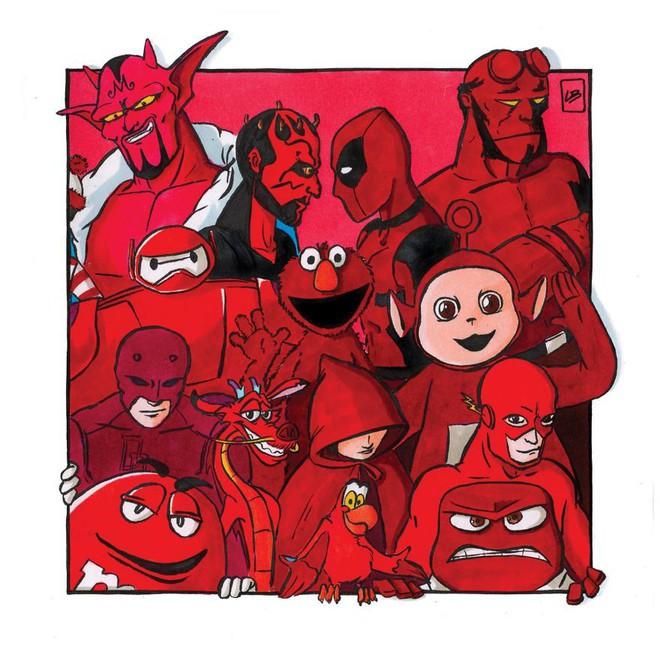 Sẽ ra sao nếu phân loại siêu anh hùng và nhân vật hoạt hình theo màu sắc? - Ảnh 2.