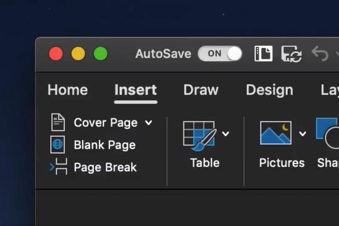 Microsoft Office trên macOS Mojave chuẩn bị có chế độ nền tối - Ảnh 2.