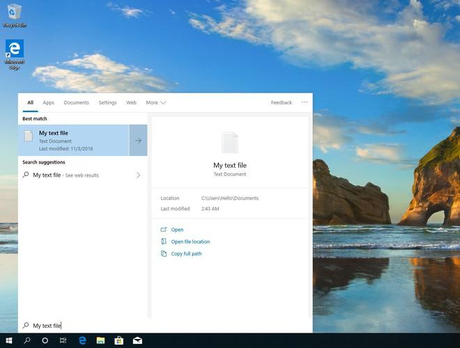 Microsoft sẽ tách Cortana khỏi Windows Search từ bản cập nhật Windows 10 19H1 - Ảnh 2.