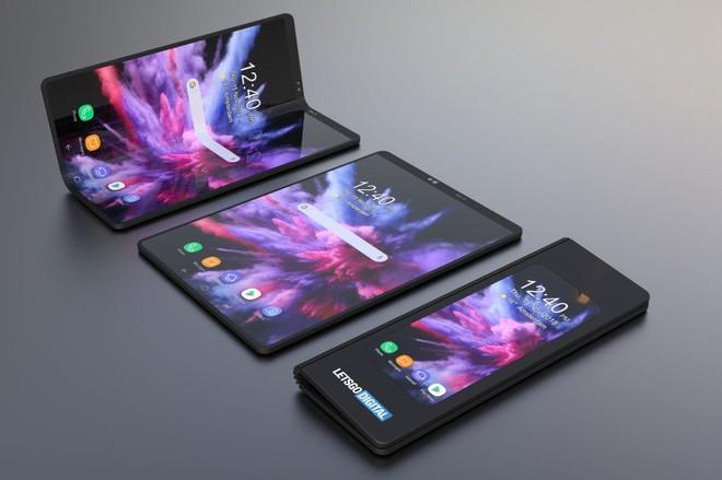 Cái bạn thấy mới chỉ là vỏ bọc thôi, smartphone màn hình gập của Samsung thực sự sẽ đẹp như thế này - Ảnh 1.