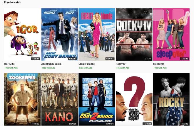 YouTube cho phép xem nhiều phim bom tấn Hollywood hoàn toàn miễn phí, nhưng chặn IP Việt Nam - Ảnh 1.