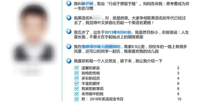 CV dài 15 trang của cu cậu 5 tuổi khiến Internet Trung Quốc hoàn toàn xụi lơ - Ảnh 1.