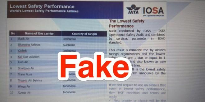 Sau vụ tai nạn máy bay kinh hoàng của Lion Air, xuất hiện thông tin xếp hạng hãng hàng không này có độ an toàn thấp nhất - Ảnh 1.