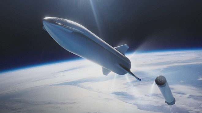 Tên lửa Big F*** Rocket được Elon Musk đổi tên thành Starship Super Heavy - Ảnh 1.