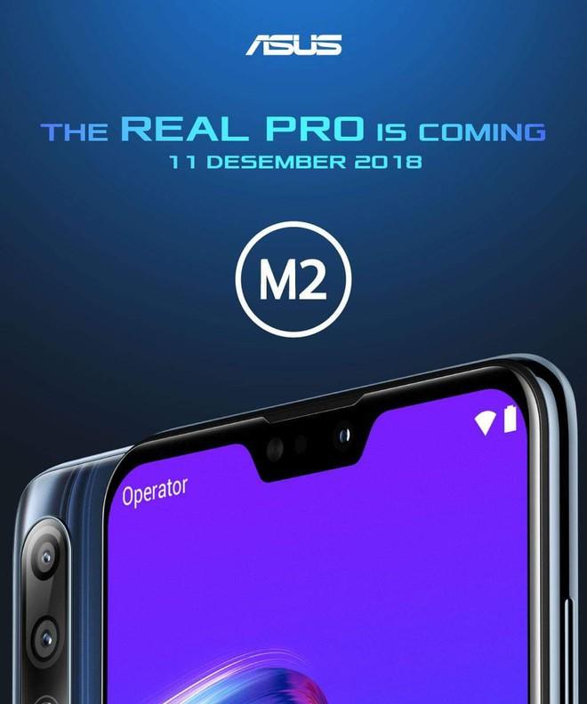 ASUS Zenfone Max Pro M2 lộ diện với ba camera sau, pin 5.000 mAh, ra mắt ngày 11/12 - Ảnh 1.