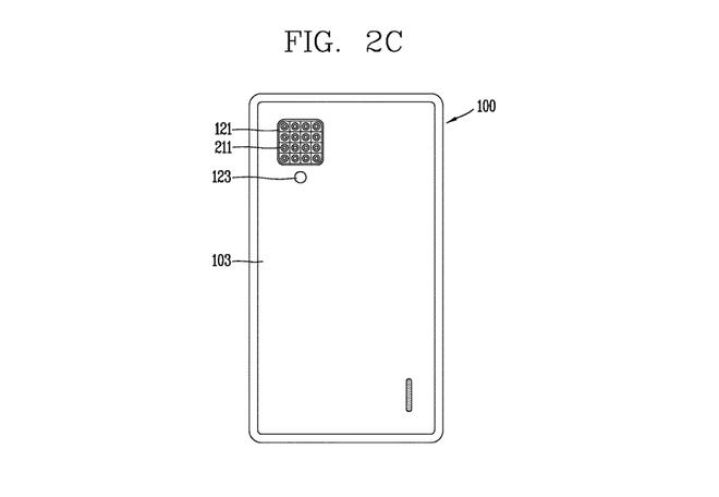 4 camera sau vẫn còn ít, LG vừa nhận bằng sáng chế điện thoại với...16 camera sau - Ảnh 1.