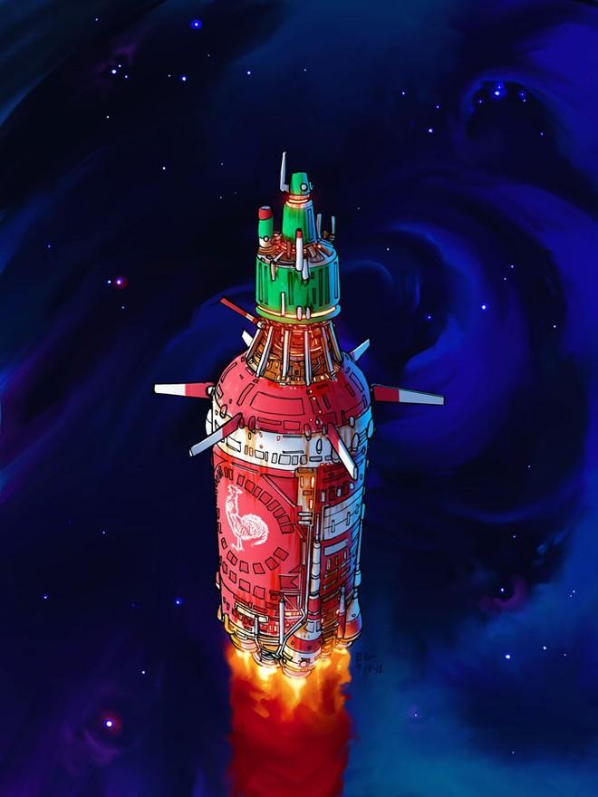 Nghệ sĩ này biến những đồ vật bình thường nhất thành tàu vũ trụ với thiết kế đậm chất viễn tưởng - Ảnh 4.